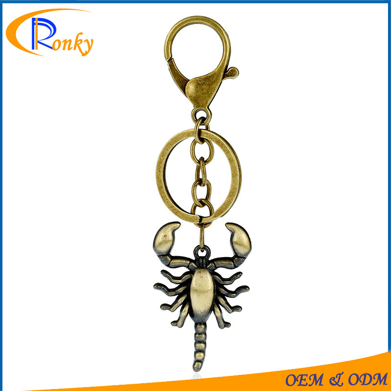Fashion daily use items for man crazy scorpion male keychain pendant