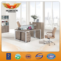 Modern office workstation with partition for 2 people HY-Z07