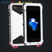 Luxury Shockproof Waterproof Powerful Aluminum Gorilla Glass Metal Cover Cell Phone Case For IPhone