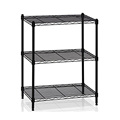 Black Powder Coating wire racking Houseware storage wire shelving Office Kitchen Organize wire shelf Unit