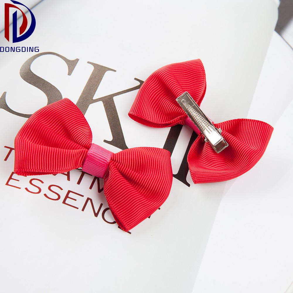 Wholesale custom fashion kids <strong>hair</strong> <strong>accessories</strong> ,make grosgrain ribbon bow with clips