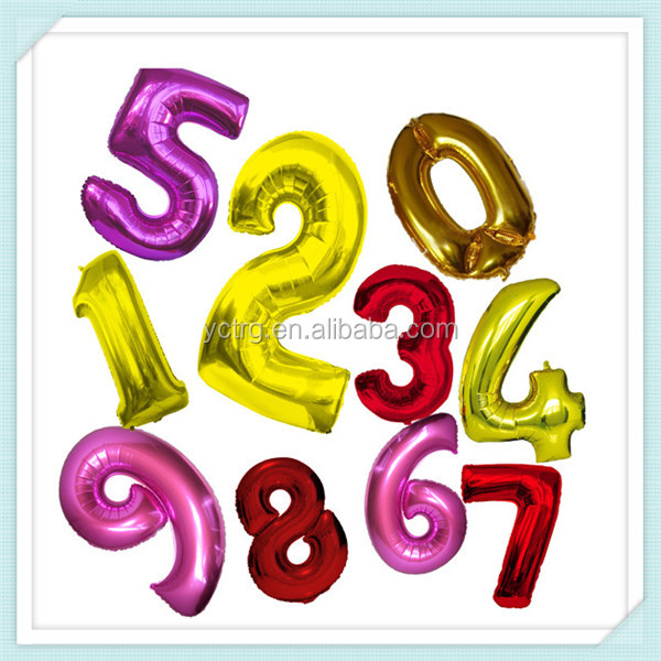 "New Design Wholesale 40"" Number Helium Inflatable Foil Balloon"