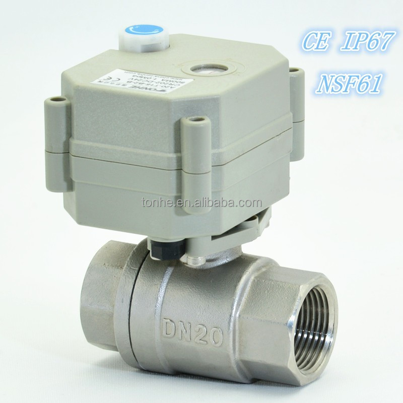 2 way electric control nsf61 stainless ball valve for Motorized flow control valve