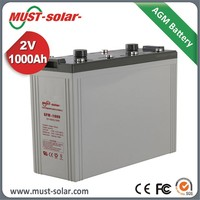 12V sealed GFM battery 1000AH long life vrla battery 12 volt battery deep cycle