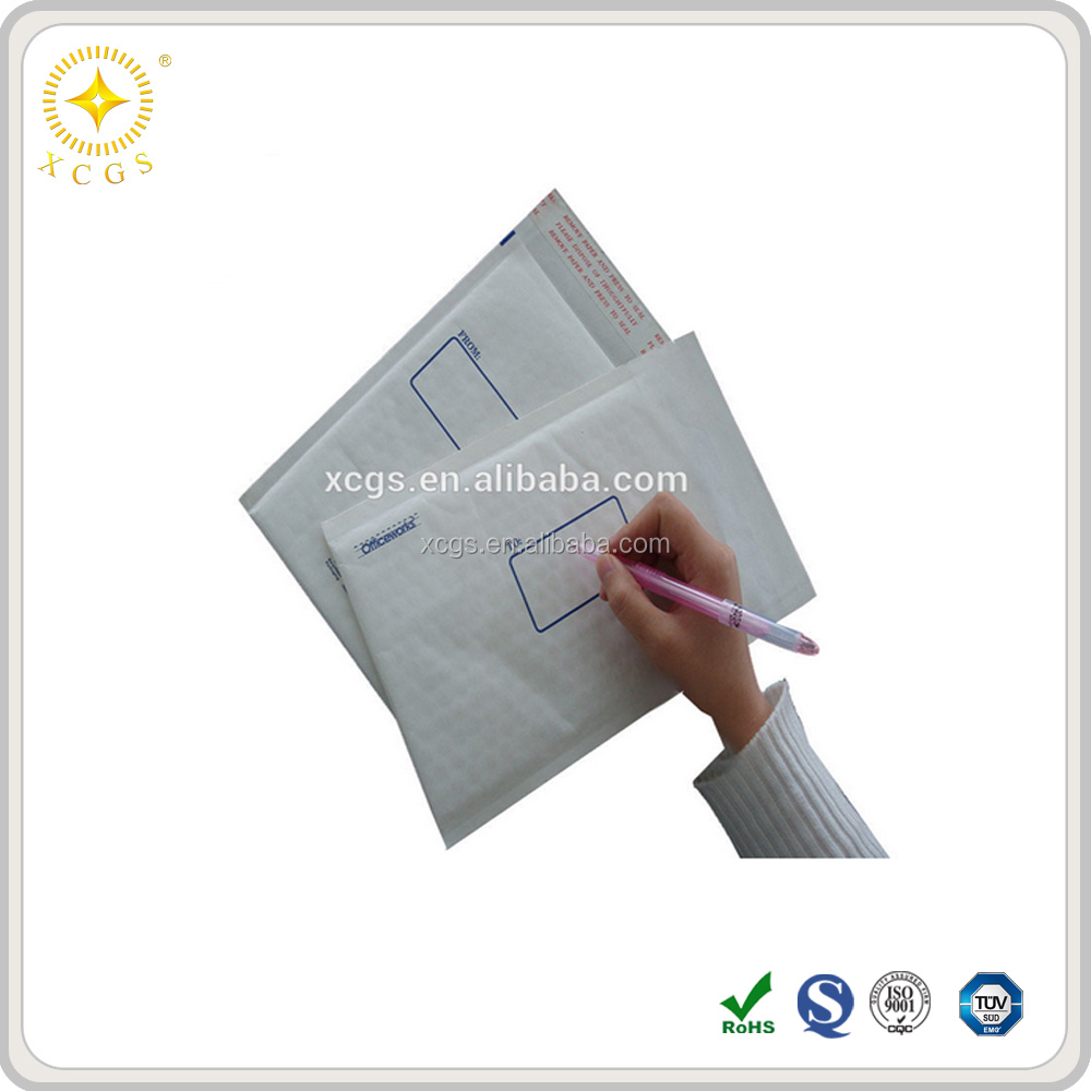 Durable courier bubble envelope, self-seal kraft bubble mailers
