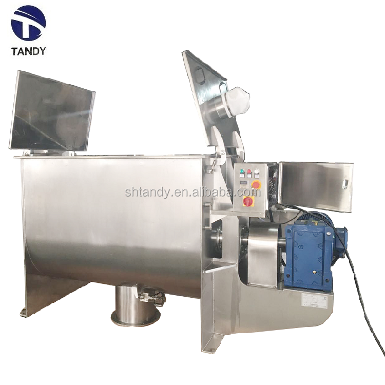 Horizontal organic powder ribbon blender / ribbon mixing machine