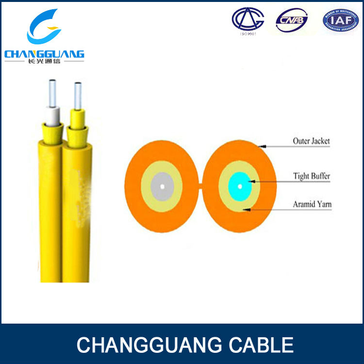 GJFJ8V Communication equipments 2 core optical fiber audio cable