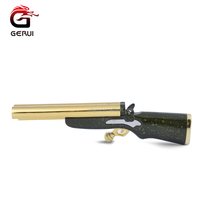 Hot Selling Jet Flame Refillable Gun Shape Metal Cigarette Gun Lighter