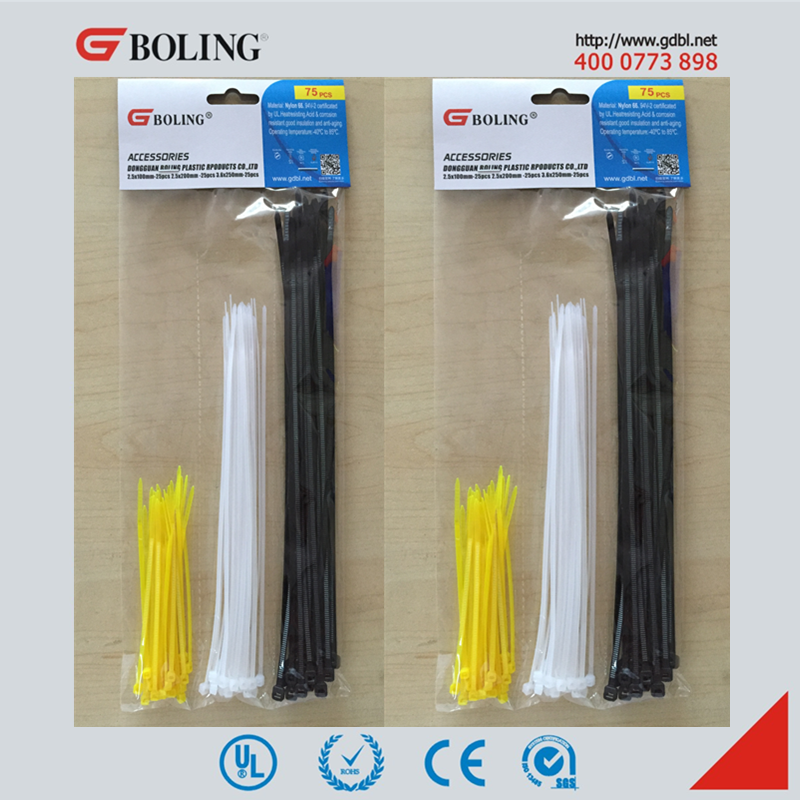 Free sample 4'' 6'' 8'' 10'' length zip tie Nylon66 plastic tie self locking numbered cable tie sizes, value pack