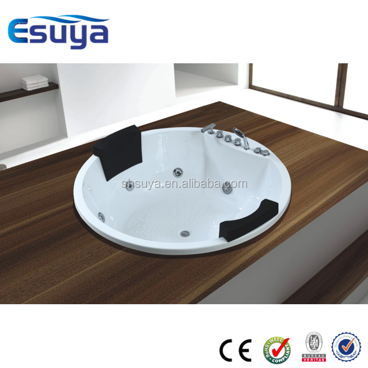 white acrylic massage bathtub for hotel use coner whirlpool bathtub with computer control baths