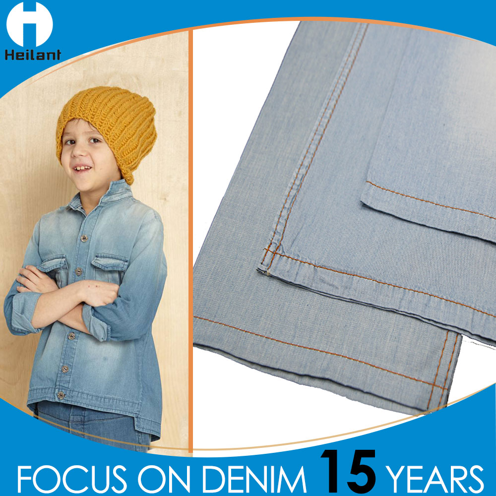 cheap price recycled regular cotton twill denim fabric sourcing for jeans shirts skirts dresses