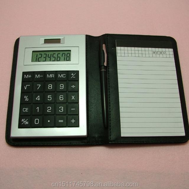 mini pocket notebook calculator 8 digits with memo