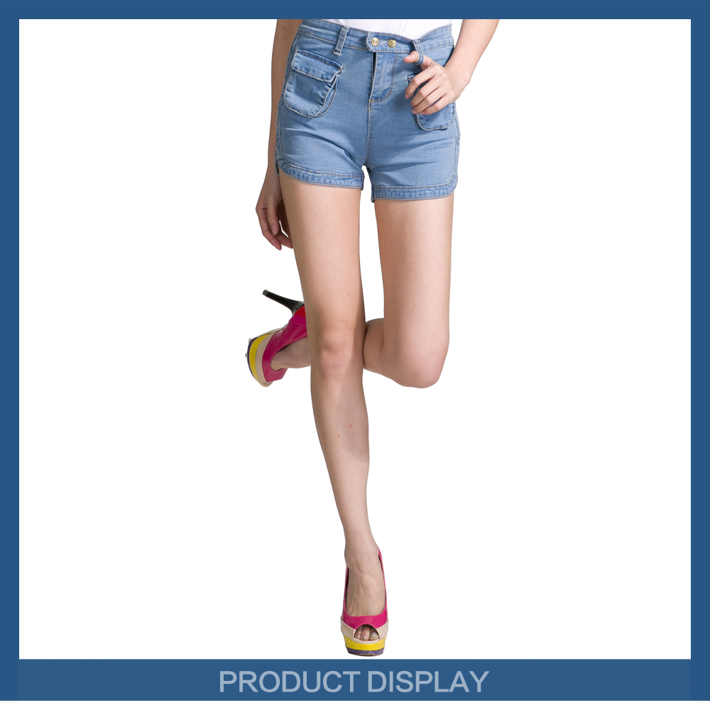 High Quality 2017 Young Girls New Style Denim Short Jeans