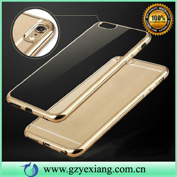 premium tpu cover and transparent cellphone case for iphone5 with electroplating craft