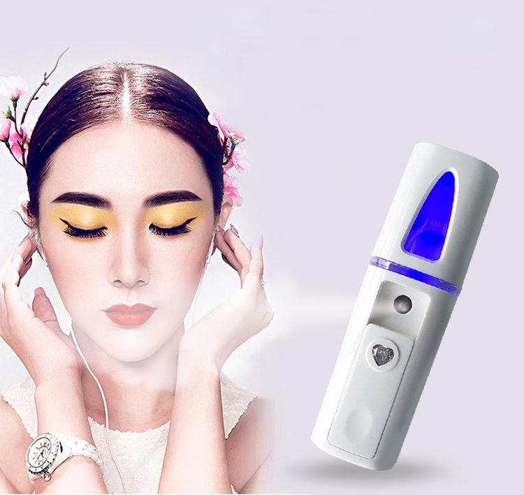rechargeable mini face mist nano facial nano mist sprayer portable face steam machine steamer for face nano beauty equipment