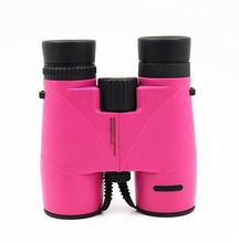 Wintime Pink Binoculars 8x32 for Adults kids Compact Waterproof Telescope for Hunting Outdoor Exploration Kit