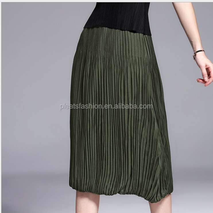 New middle waist A Short dress pleats fashion on line shop