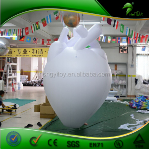 Inflatable Realistic Human Heart Balloon For Advertising / 2m Height White Inflatable Heart / Inflatable Helium Replica Model