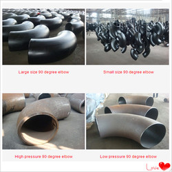 ASTM A234 WPB Carbon steel LR SR steel pipe elbow and bend from HEBEI TIANLONG