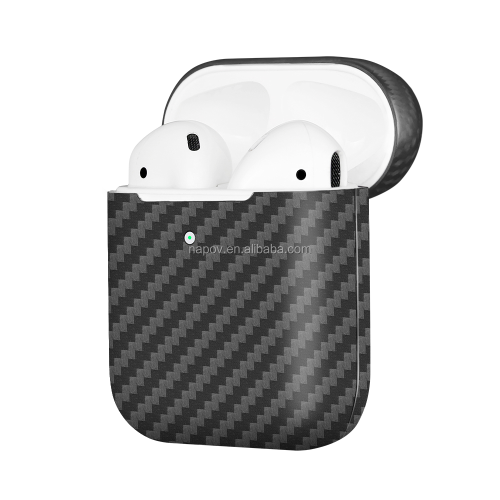 2019 New arrive Real Carbon Fiber Case for New Apple Air pods Shock Proof Protective Headphone Box