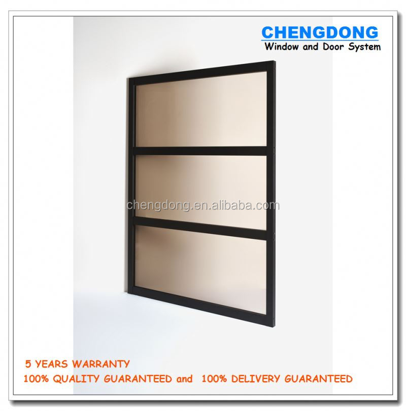 Aluminum clad wood double hung shutter glass corner window louver prices