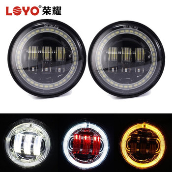 Angel Evil Eyes Fog Light Special for Harley Motorcycle LED 4.5'' Driving Light for Harley