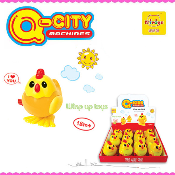 Funny plastic mini wind up toy chick for wholesale