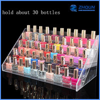 30 bottles acrylic cosmetic display counter for nail polish