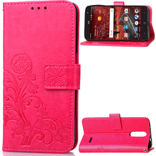 Four Leaf Clover PU Leather Wallet Flip Cases For ZTE Grand X4 Back Cover Coque Funda Mobile Phone Bag