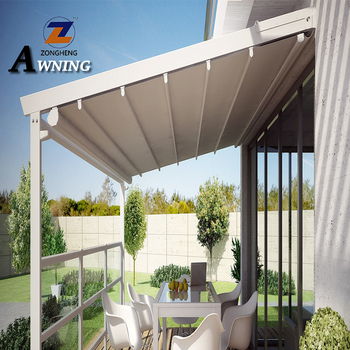 The automatic remote control retractable awning pergola decorative with good price