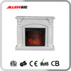 2016 new design solid wood artificial electric fireplace mantel