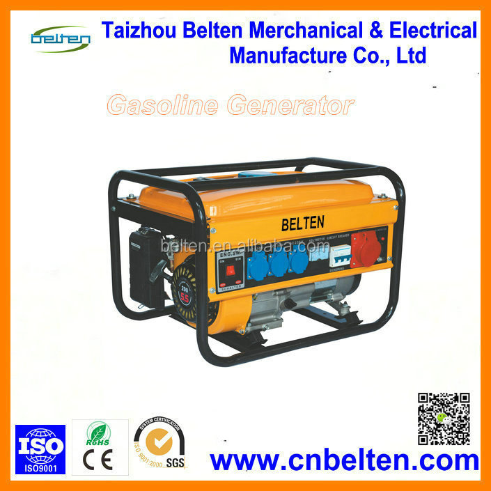 Alibaba Wholesale 2kw 5.5HP Three Phase Portable Gasoline Generator Small Electric Generator