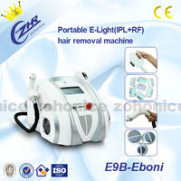 Portable E-light (IPL+RF) beauty equipment hair removal and skin care and face lifiting in beauty salon