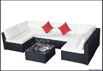 DISCOUNT!!!Low price strong quality KD design 7pcs set couch set outdoor sofa YKD-07A