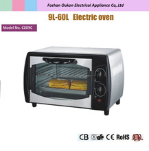 9L black mini oven electric baking oven with quartz heating element