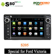Pure android 4.2.2 touch screen crown victoria car dvd player with Bluetooth/Radio/SWC/Virtual 6CD/3G internet/ATV/iPod/DVR