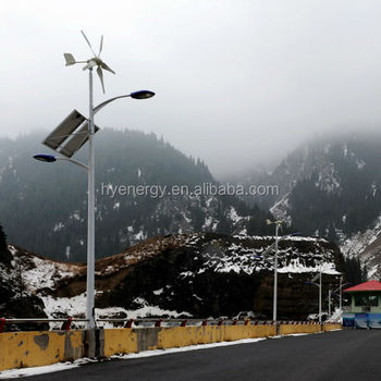 Reliable & safe wind and wind solar hybrid street light LED green power street light