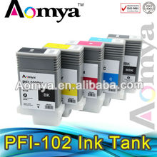 Compatible printing ink cartridge PFI-102 for Canon IPF700 with ink and chip