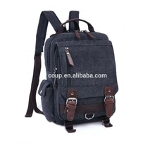 Wholesale Foldable School Korean Style Canvas Outdoor Travelling Bag Fashion Backpack For Teenage Boys Girls