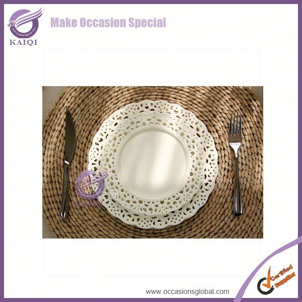 k3507-2 New design white restaurant bulk wholesale ceramic plates
