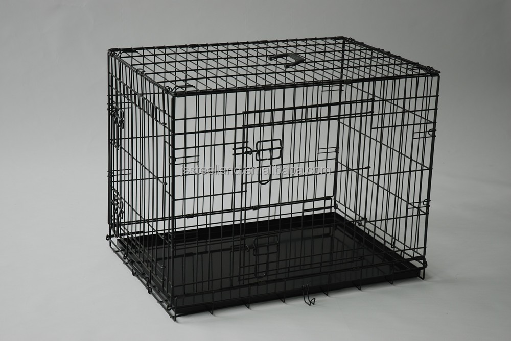 2017 hot selling two doors foldable wire welded dog kennel
