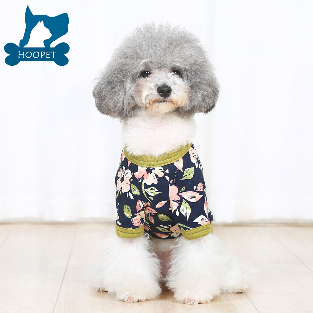 Hoopet Flowers Print Clothes Cat Dog Pet Apparel