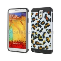 Leopard Pattern PC + TPU Hybrid Card Slot Case for Samsung Galaxy Note 3 N9005 N9002