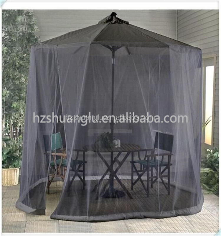 very large outdoor umbrella zipper mosquito net tent