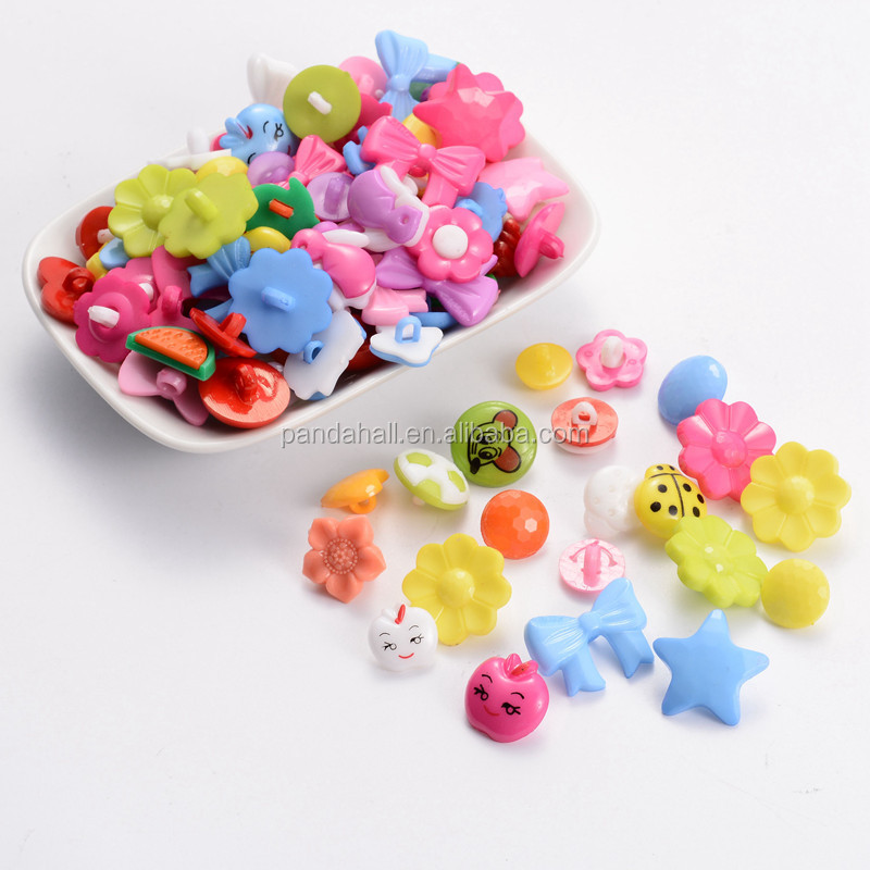 Random Mixed Shank Buttons for Garments, Different Types of Buttons
