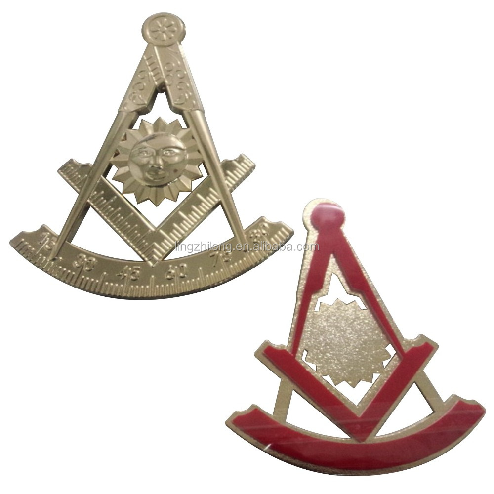 Masonic product Auto emblem design masonic Brass logo badge