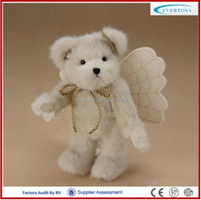 2016 hot selling white angel teddy bear with movable arms and legs