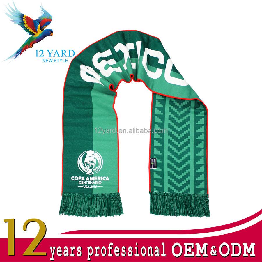 Sublimation printed country flag football scarves for advertising and soccer gift scarf