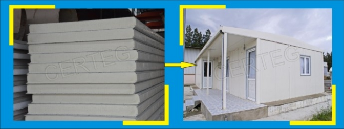 Newly designed heat insulating pu sandwich panel