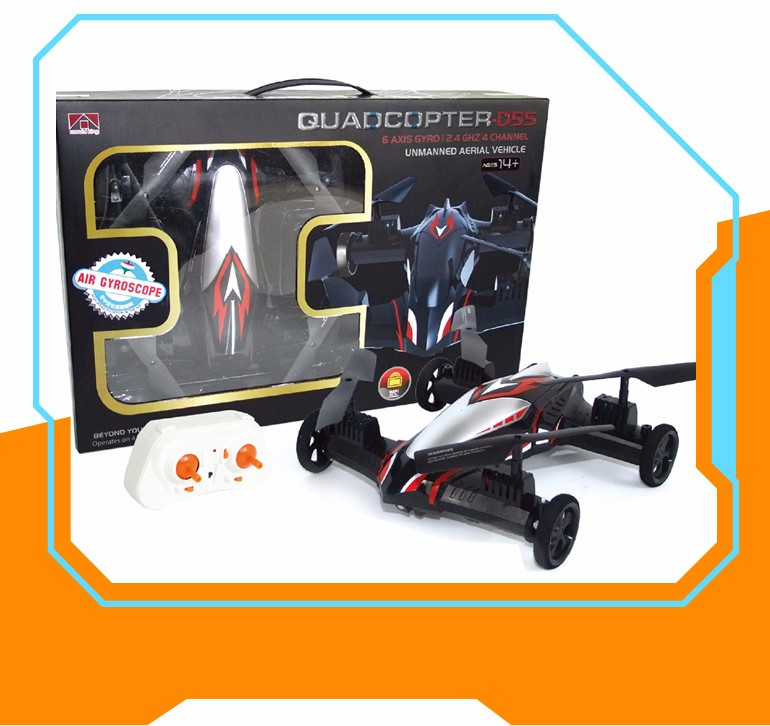 Alibaba china 2017 dual mode remote control helicopter car flying drone for wholesale